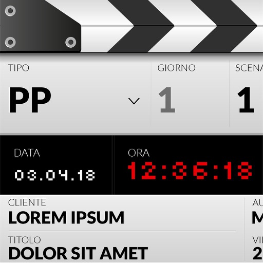DSLR Clapperboard for iPad
