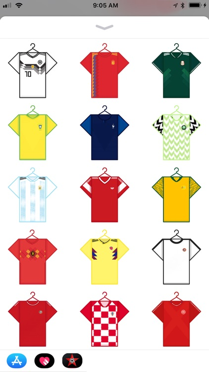 Jerseys of the World Stickers