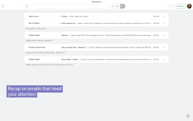 Newton - Supercharged emailing Screenshot