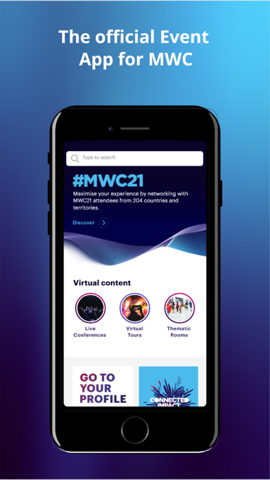 Screenshot #1 pour MWC21 – Official GSMA MWC App