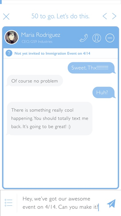 Hustle: P2P texting at scale