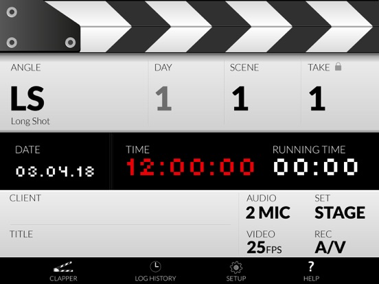 iPad Image of DSLR Clapperboard