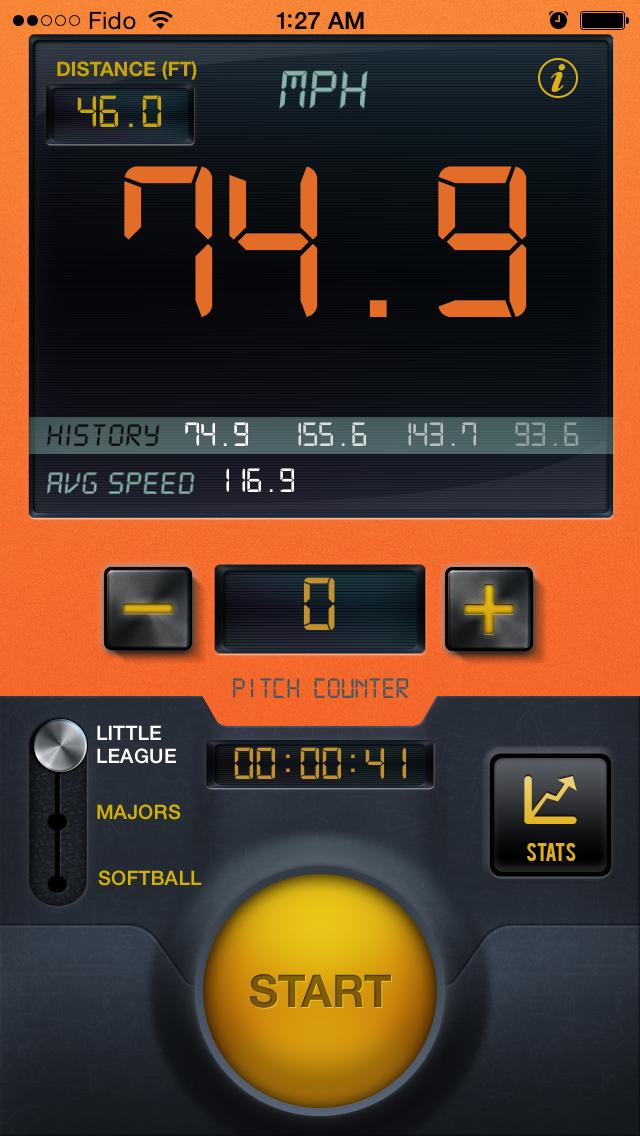 野球スピードレーダーガンプロのおすすめ画像1