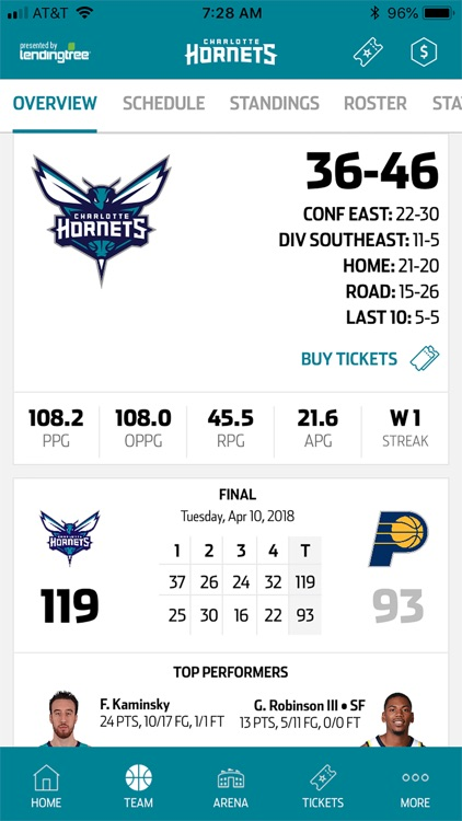 Charlotte Hornets screenshot-2