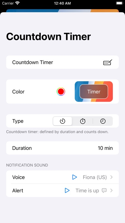 VoyTimer: Talking Voice Timer screenshot-4
