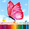 Butterfly & Flower Pixel Color