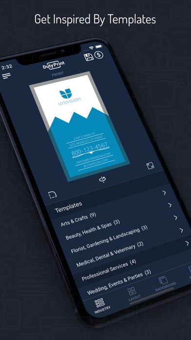 Dutyprint business card studio app mobile apps dutyprint business card studio colourmoves