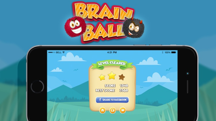 Brain Ball : Draw line Physics screenshot-3
