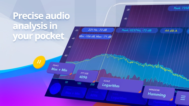 Audio spectrum analyzer EQ Rta screenshot-0