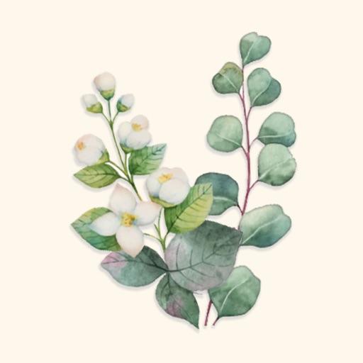 Bloom Flower Stickers