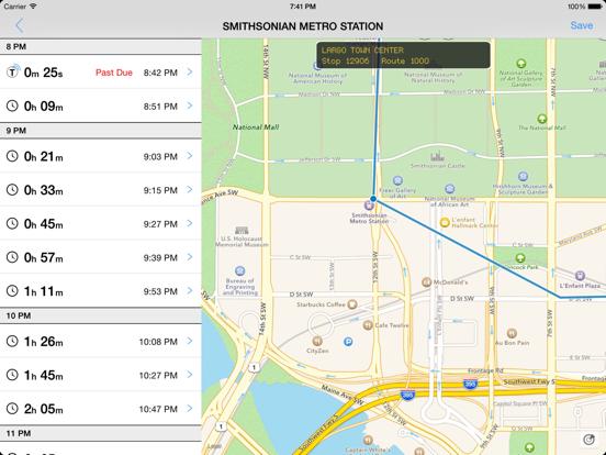 Transit Tracker - DC/Maryland-ipad-0