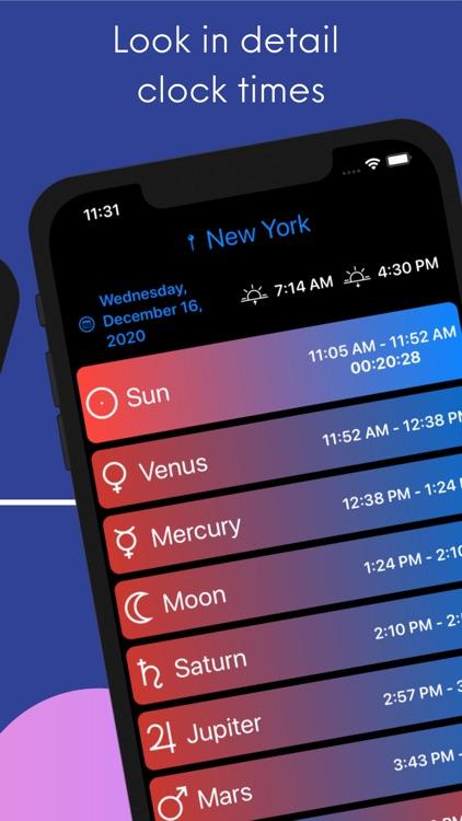 Planetary Hours Widget