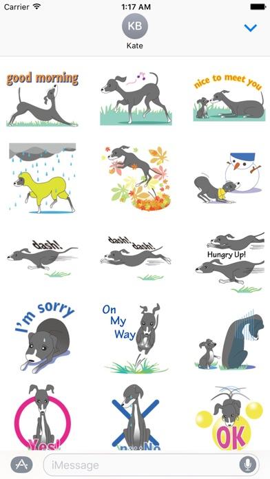Italian Greyhound Dog Stickers Screenshot