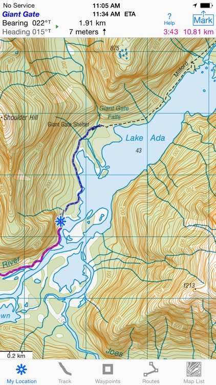 i Hike GPS NZ : Topo Maps screenshot-2