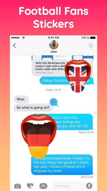 Football Fans Funny Tongue App