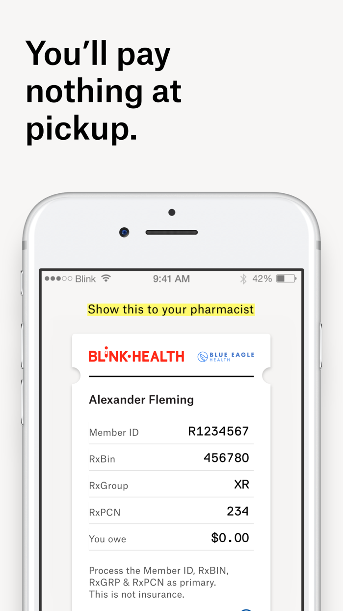 Blink Health Lowest Rx Prices Screenshot