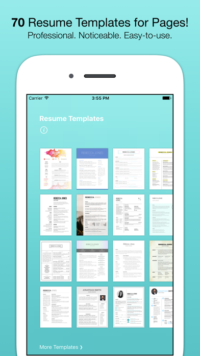 Resume Templates (for Pages)屏幕截图1