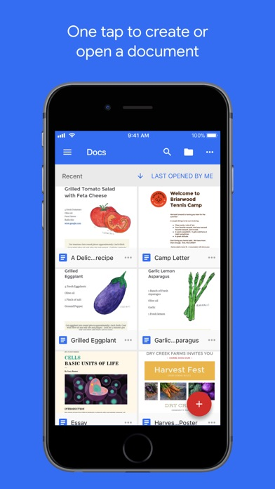 Screenshot for Google Docs in United States App Store