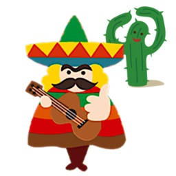 Cheerful Mexican Sticker