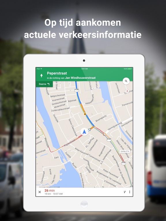 Google Maps iPad app afbeelding 1