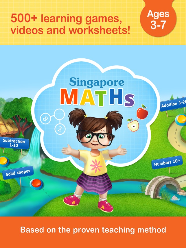 Singapore math games for kids on the App Store