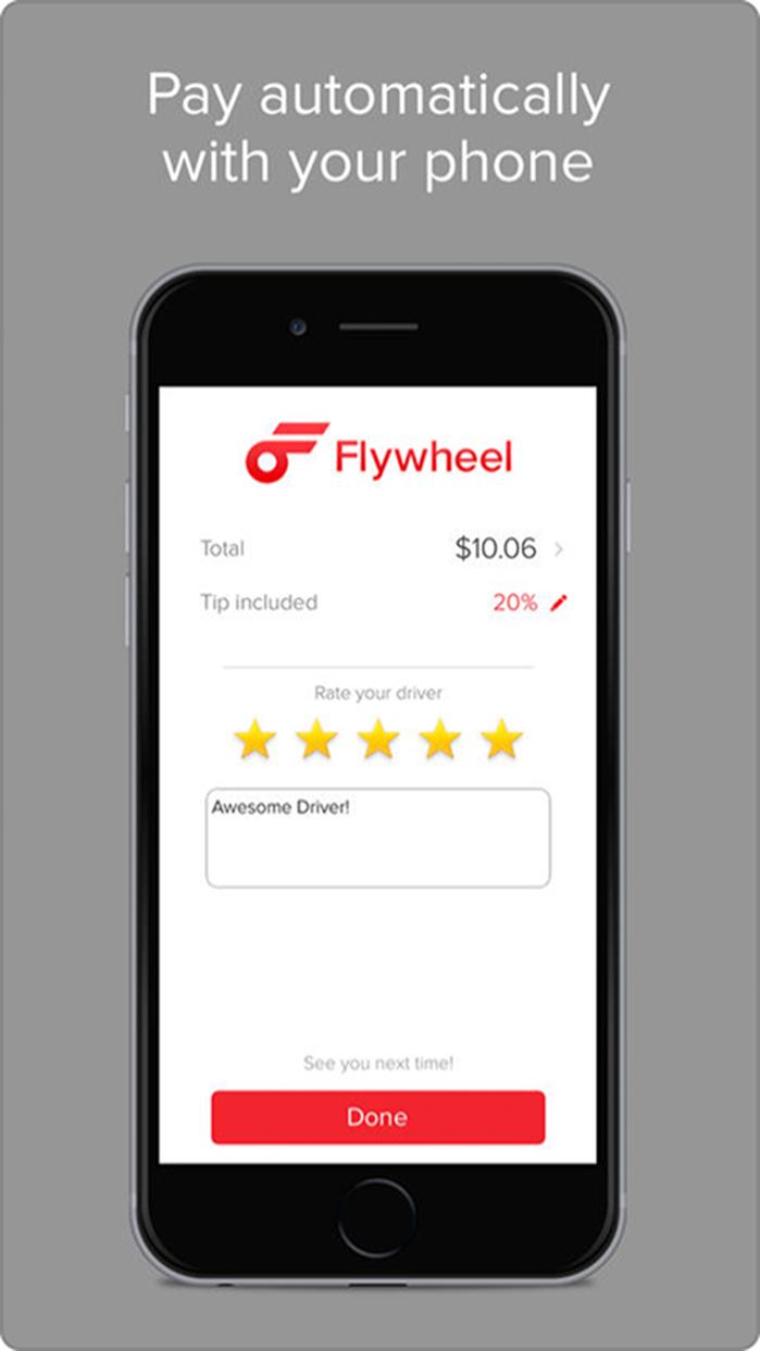 Flywheel - The Taxi App Screenshot