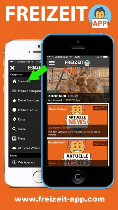 FREIZEIT App Screenshots