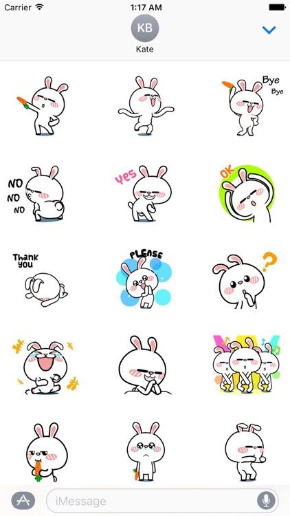 Animated Happy Rabbit Sticker