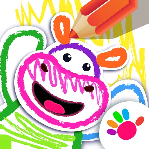 少儿画画游戏婴儿童游戏早教幼儿涂色动物宝宝3-6岁