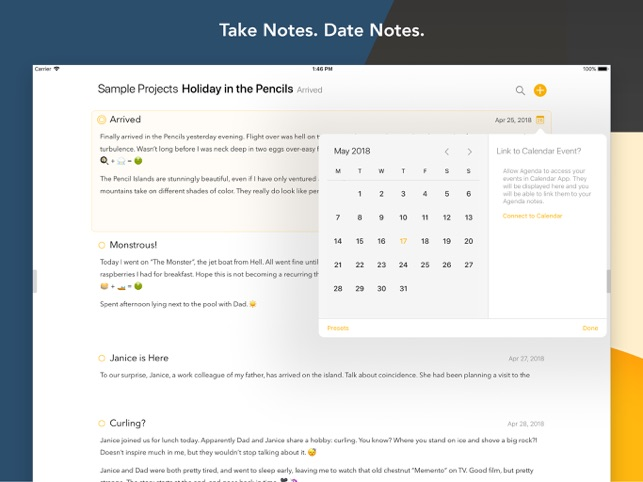 Popular Note Taking App Agenda Comes to iOS Image