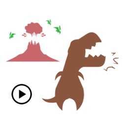 Animated Dinosaur Icon Sticker