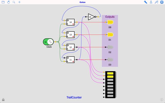 digitaler Schaltungssimulator Screenshot