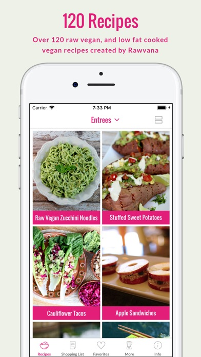 Screenshot for Rawvana's Raw Recipes in Estonia App Store