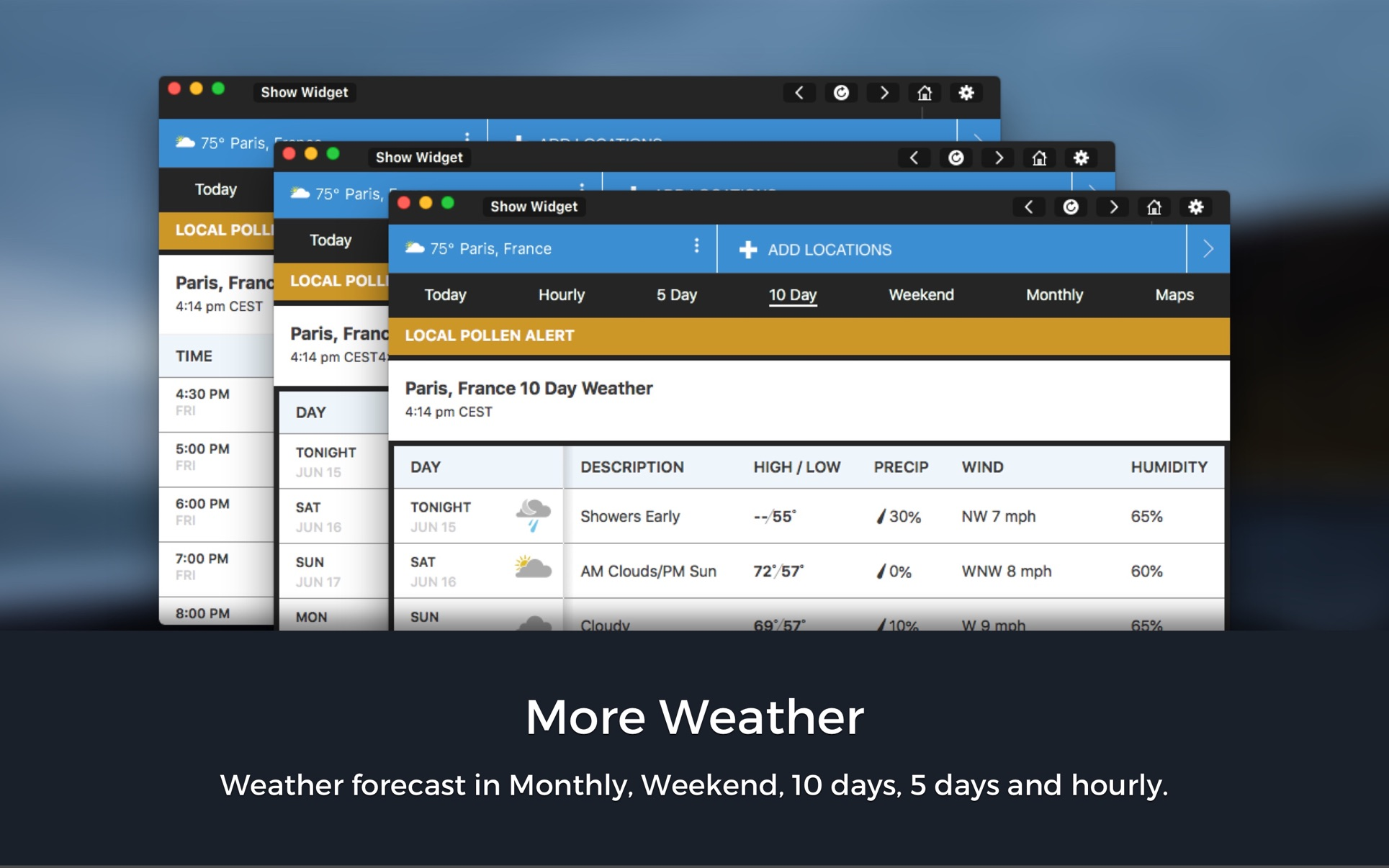 ProForecast for WeatherChannel