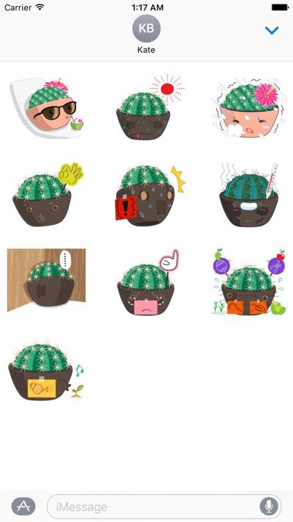 Lovely Cactus Emoji Sticker