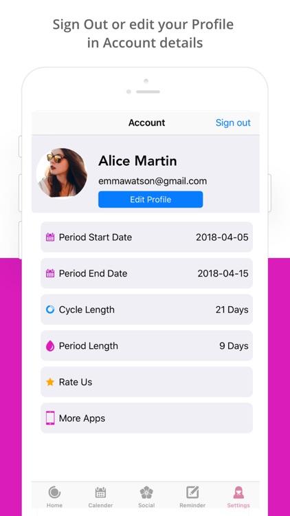 Period Tracker : Ovulation App screenshot-7