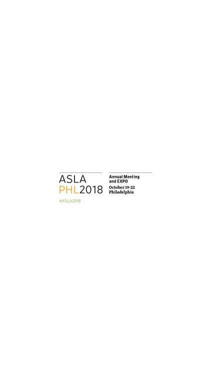 ASLA Annual Meeting and EXPO