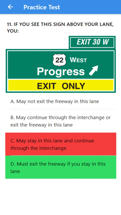 Practice Test USA & Road Signs screenshot 5