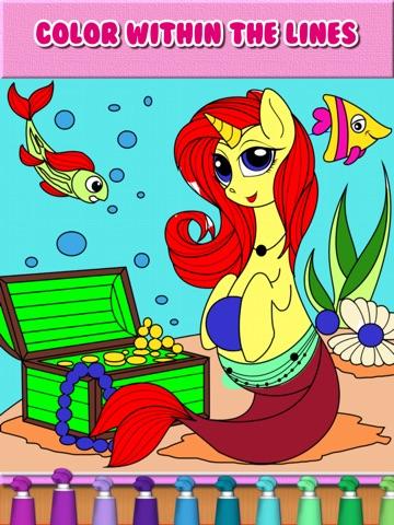 Пони Русалки Игры Раскраски для iPad