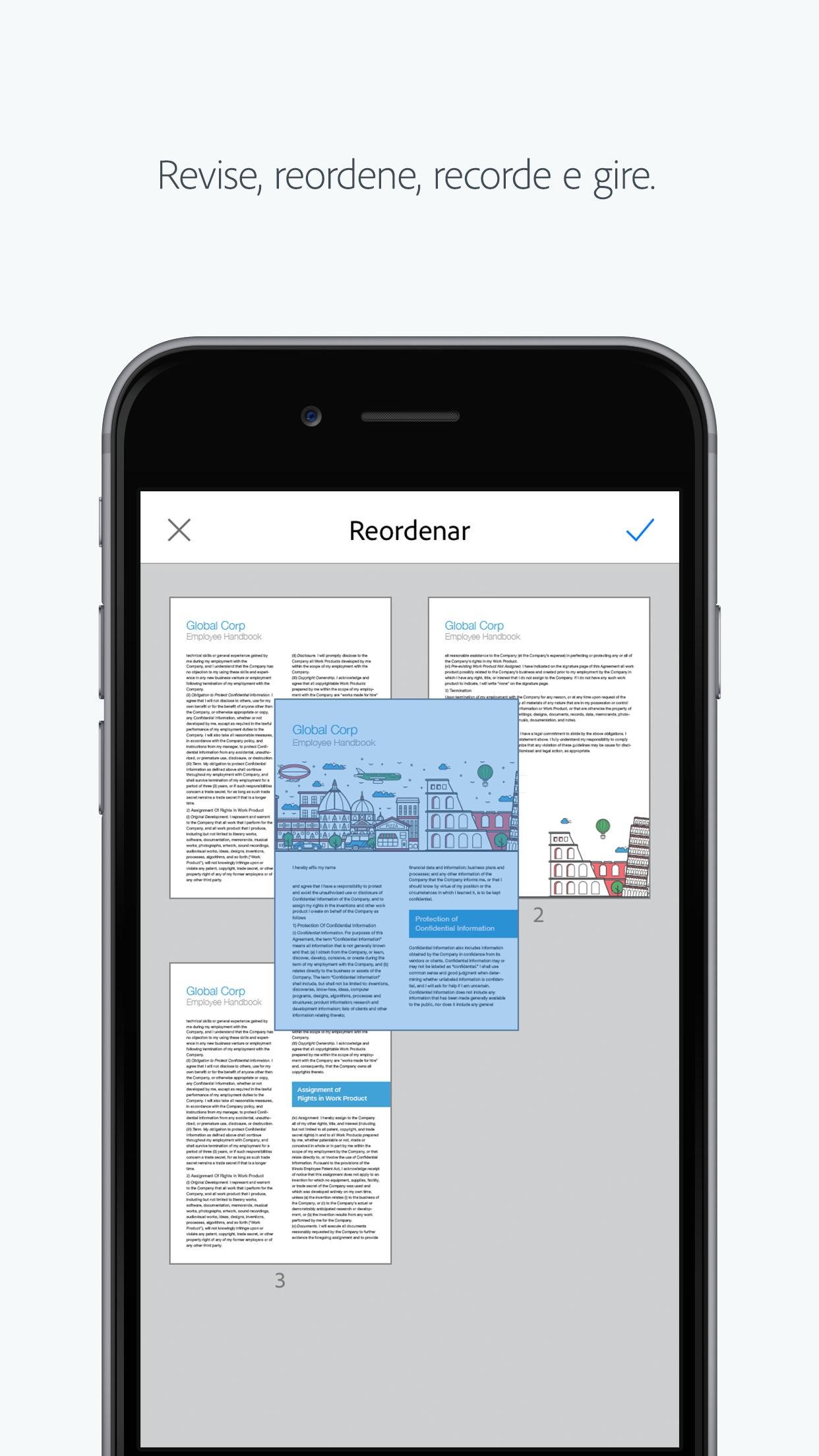 Screenshot do app Adobe Scan