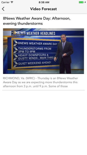 WRIC StormTracker 8 Weather บน App Store
