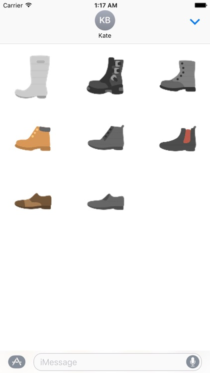 Clothes And Shoes Icon Sticker screenshot-8
