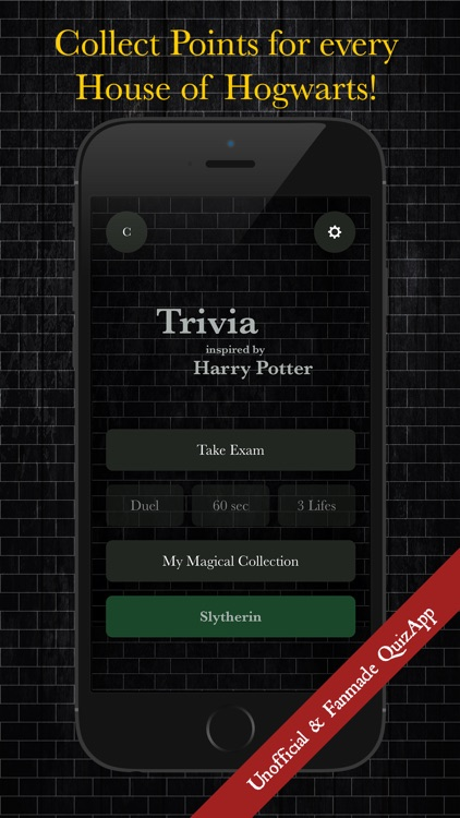 Quiz inspired by Harry Potter