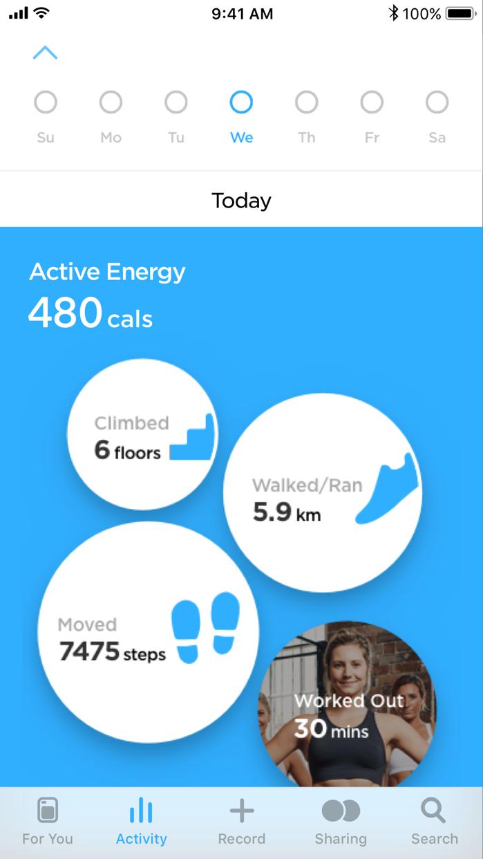 Zova: Workout, Stretch & Track Screenshot