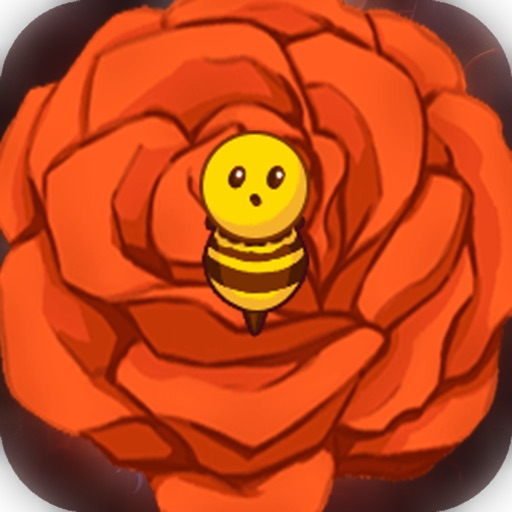 Bees love flowers icon