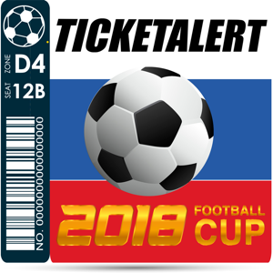TicketAlert 2018 Football Cup app