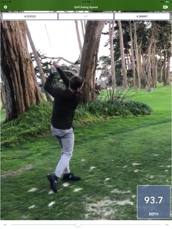 Golf Swing Speed Analyzer screenshot 4