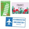 Country & City stamps stickers