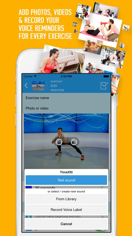 TimeXFit - fitness assistant