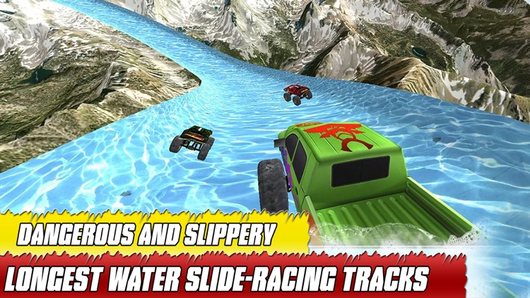 water slide monster truck Race screenshot-0